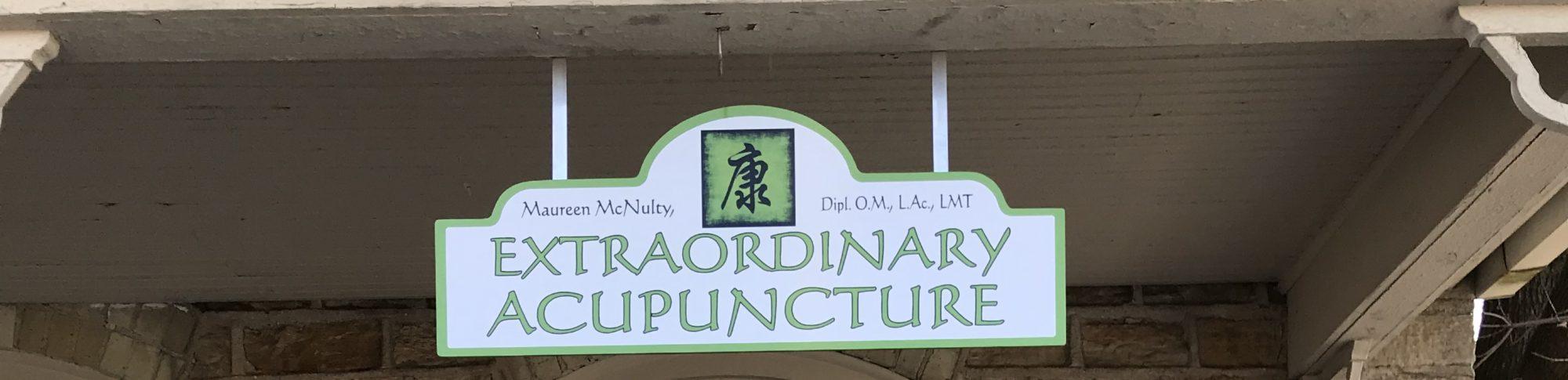 Extraordinary Acupuncture